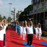 Colourful Yoga Day