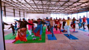 Allzwell organised Yoga Camp