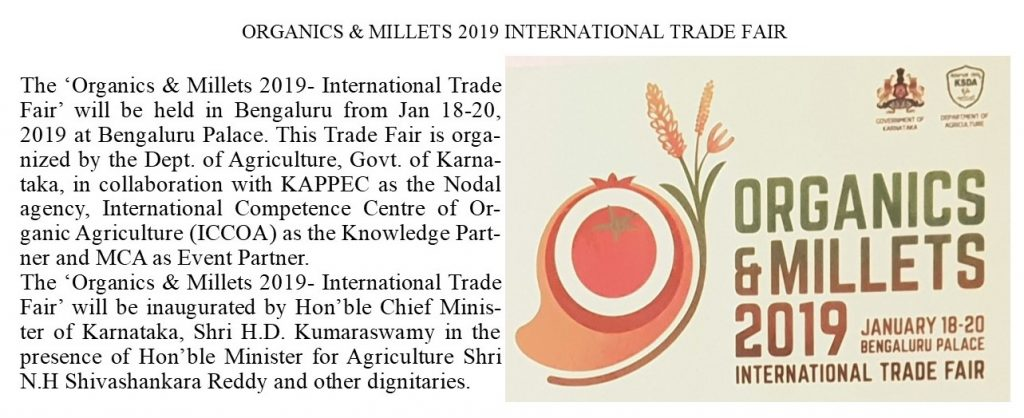 Organic and millets 2019