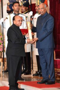 Dr. R.V. Ramani awarded 'Padma Shri' by the Govt. of India