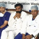 B. Sriramulu, Minister of Health visits first heart transplant recipient under the Arogya Karnataka Scheme