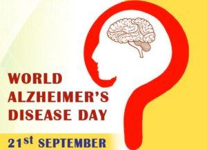 World Alzheimer's disease day - 21st September
