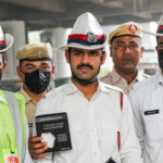 Pee Safe distributes Dust Masks among traffic police
