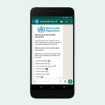 The world health organization launches WHO health alert on WhatsApp