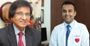 1.Dr Purshotam Lal (Padmavibhushan) Founder & Chairman- Metro Group of Hospitals 2.Dr Sameer Gupta- Director Interventional Cardiology, Metro Hospital & Heart Institute.