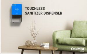 """Riot Labz launches DRDO's made in India automatic sanitiser""""Oakmist Mini""""."""